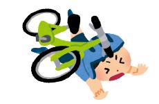 自転車で走行中 転んでケガを負った